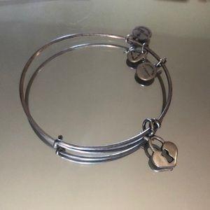 Alex and Ani Silver heart lock bracelet